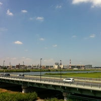 Photo taken at 四つ木橋 by Go D. on 7/9/2012