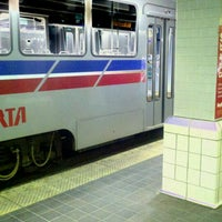 Photo taken at RTA Tower City Rapid Station by Kenyatta C. on 3/10/2012