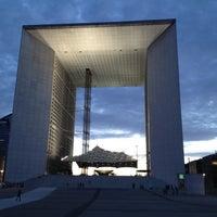 Photo taken at Grande Arche de la Défense by Tarek on 7/2/2012