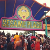 Photo taken at Sesame Place by Raquel H. on 9/2/2012