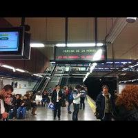 Photo taken at Metro Moncloa by Mari trini G. on 3/29/2012