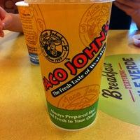Photo taken at Taco John's by Julie L. on 8/15/2012