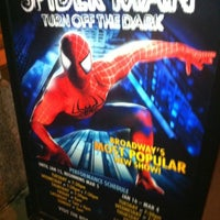 Photo taken at Spider-Man: Turn Off The Dark at the Foxwoods Theatre by Jonathan B. on 4/1/2012