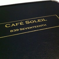 Photo taken at Cafe Soleil by RobH on 4/4/2012