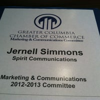 Photo taken at Greater Columbia Chamber of Commerce by Jernell S. on 8/8/2012