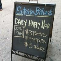 Photo taken at Eastside Billiards & Bar by Meg on 9/11/2012