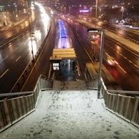 Photo taken at Halıcıoğlu Metrobüs Durağı by Hakkı B. on 1/18/2016