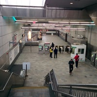 Photo taken at MBTA World Trade Center Station by Michael L. on 4/17/2014