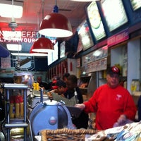 Photo taken at Attman's Authentic New York Delicatessen by Denny M. on 11/24/2012