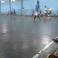 Photo taken at YPKP Indoor Soccer Center by Ahsan Q. on 2/15/2014