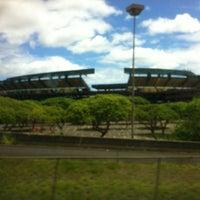 Photo taken at Aloha Stadium by Kyle S. on 6/25/2013