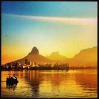 Photo taken at Lagoa Rodrigo de Freitas by Bianca R. on 5/26/2013