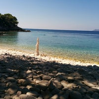 Photo taken at Srebrena beach by András L. on 8/28/2014