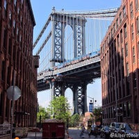 Photo taken at Manhattan Bridge by Albert C. on 6/15/2013