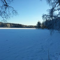 Photo taken at Sognsvann by Francis D. on 12/27/2012