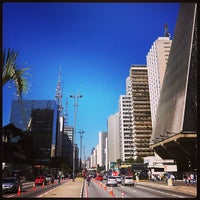 Photo taken at Paulista Avenue by Sandro S. on 7/28/2013