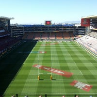 Photo taken at Newlands Rugby Stadium by Steven E. on 3/9/2013
