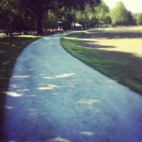 Photo taken at Piedmont Park Active Oval by Nik G. on 5/15/2013