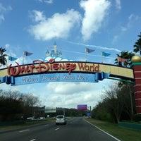 Photo taken at Walt Disney World Entrance by Jorge Eduardo d. on 2/15/2013