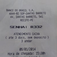 Photo taken at Banco do Brasil by Kleycianne M. on 1/6/2014