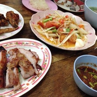 Photo taken at ร้านลูกหิน ส้มตำ อาหารอีสาน by Jambolan W. on 2/5/2016