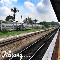 Photo taken at Stesen Keretapi Kluang by V' O. on 5/22/2013