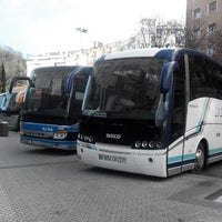 Photo taken at Estación de Autobuses de Donostia/San Sebastián by Sergey M. on 2/5/2014