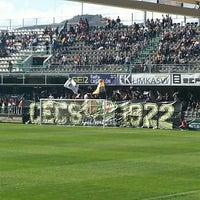 Photo taken at Estadio Municipal Castalia by Isaac G. on 4/19/2015