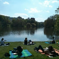 Photo taken at Lietzensee by Jc T. on 5/5/2013