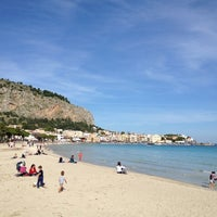 Photo taken at Spiaggia di Mondello by Matthew W. on 11/26/2012