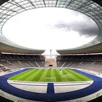 Photo taken at Olympiastadion by JOEL C. on 7/11/2013