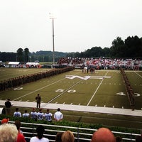 Photo taken at North Forsyth Football Stadium by Mike E. on 8/30/2013
