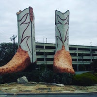 Photo taken at World's Largest Cowboy Boots by Patrick M. on 3/19/2016