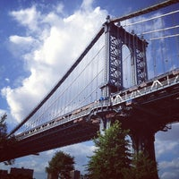 Photo taken at Manhattan Bridge by miyokana0716 on 7/14/2013