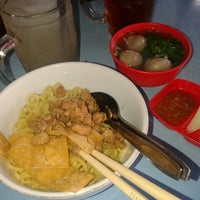 Photo taken at Bakso budi by Dina Y. on 1/30/2014