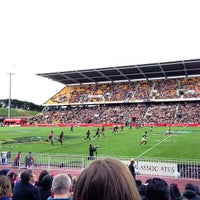 Photo taken at Mt Smart Stadium by Russell James S. on 4/7/2013
