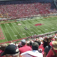 Photo taken at Donald W Reynolds Razorback Stadium by Ray S. on 9/14/2013