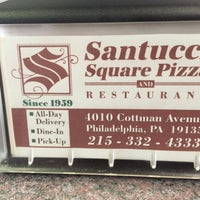 Photo taken at Santucci Square Pizza by Marc P. on 6/18/2016