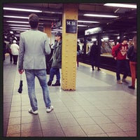 Photo taken at MTA Subway - 14th St (F/L/M) by Kathyann S. on 6/14/2013
