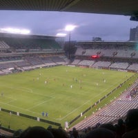 Photo taken at Free State Stadium (Vodacom Park) by Neo N. on 1/29/2014