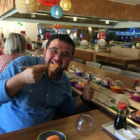 Photo taken at Okiru Running Sushi by İbrahim on 4/13/2016