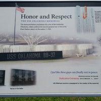 Photo taken at USS Oklahoma Memorial by Christina J. on 6/24/2014