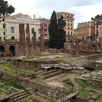 Photo taken at Largo di Torre Argentina by Ian C. on 6/9/2013