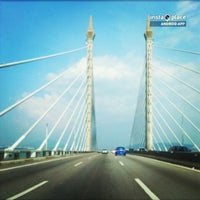Photo taken at Penang Bridge by aesha f. on 3/30/2013