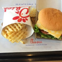 Photo taken at Chick-fil-A Broadway Crossing by iPhone V. on 10/9/2014