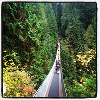 Photo taken at Capilano Suspension Bridge by ykchat on 10/20/2013