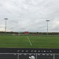 Photo taken at sun prairie high school soccer field by James T. on 10/6/2016