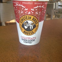Photo taken at Einstein Bros Bagels by Debbie J. on 12/20/2012