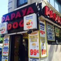 Photo taken at Papaya Dog by Elizabeth S. on 7/6/2014