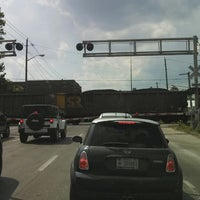 Photo taken at Railroad Crossing - New York & Pine by Evan G. on 8/21/2013